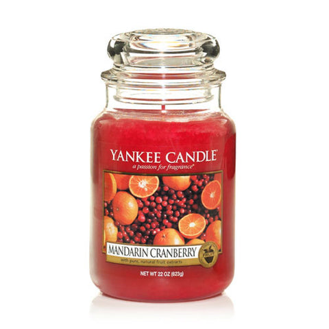 Yankee Candle Large Jar Mandarin Cranberry - lovearomameadowhall