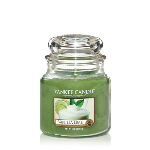 Yankee Candle Medium Jar Vanilla Lime - lovearomameadowhall
