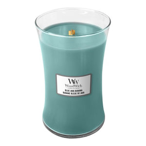 Blue Java Banana Large Jar Woodwick - lovearomameadowhall