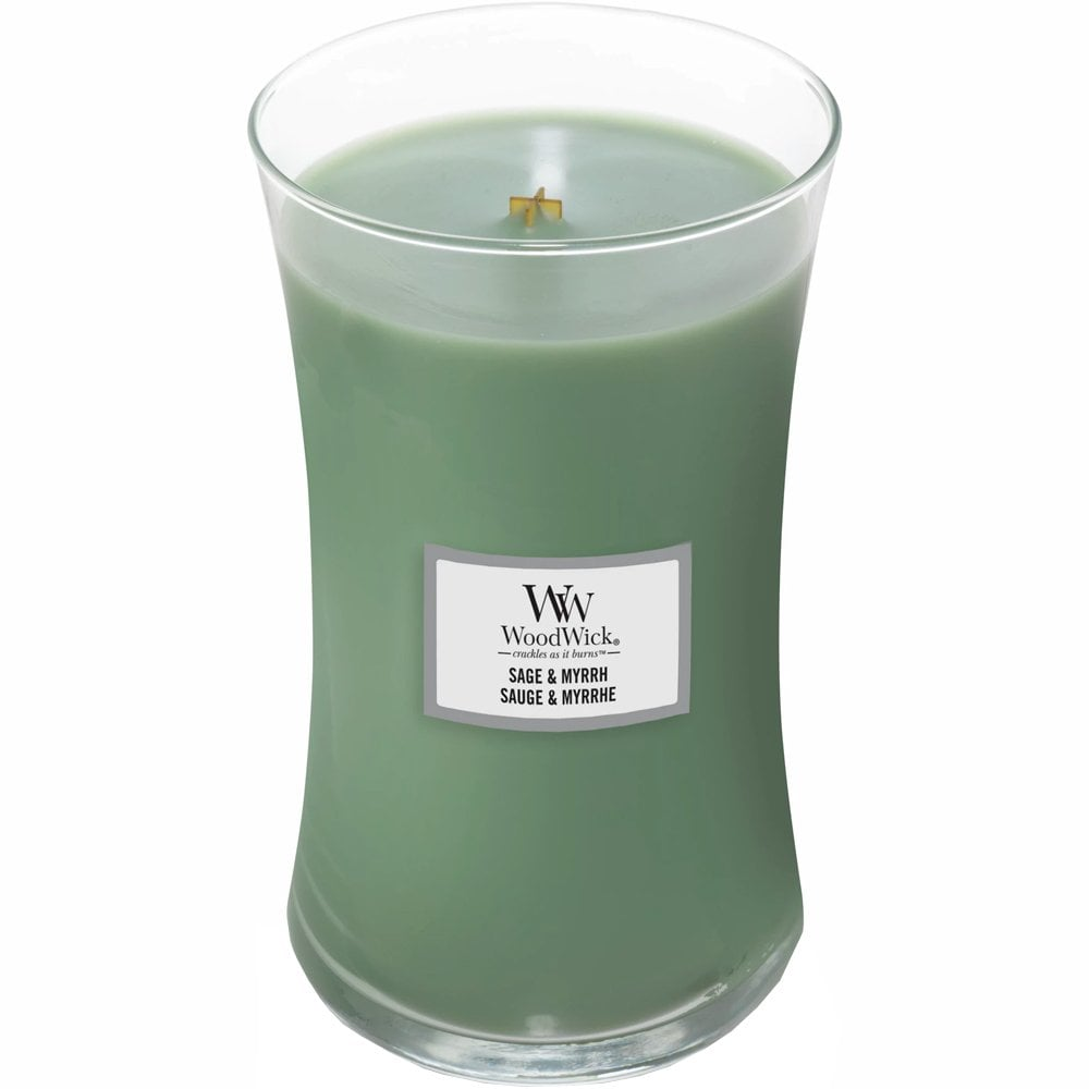 Sage and Myrrh Large Woodwick Candle - lovearomameadowhall
