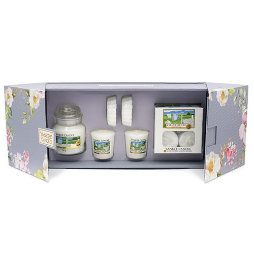 Yankee Candle Clean Cotton Fragrance Set - lovearomameadowhall