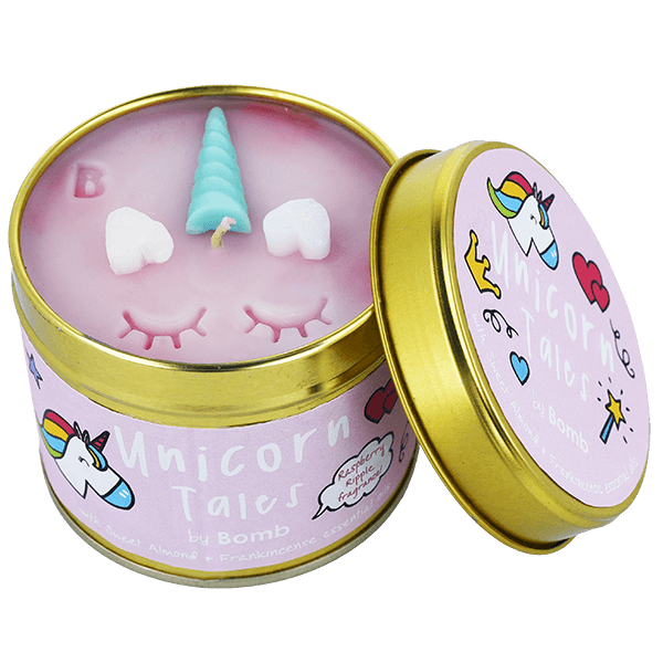 Unicorn Tales Tin Candle Bomb Cosmetics - lovearomameadowhall