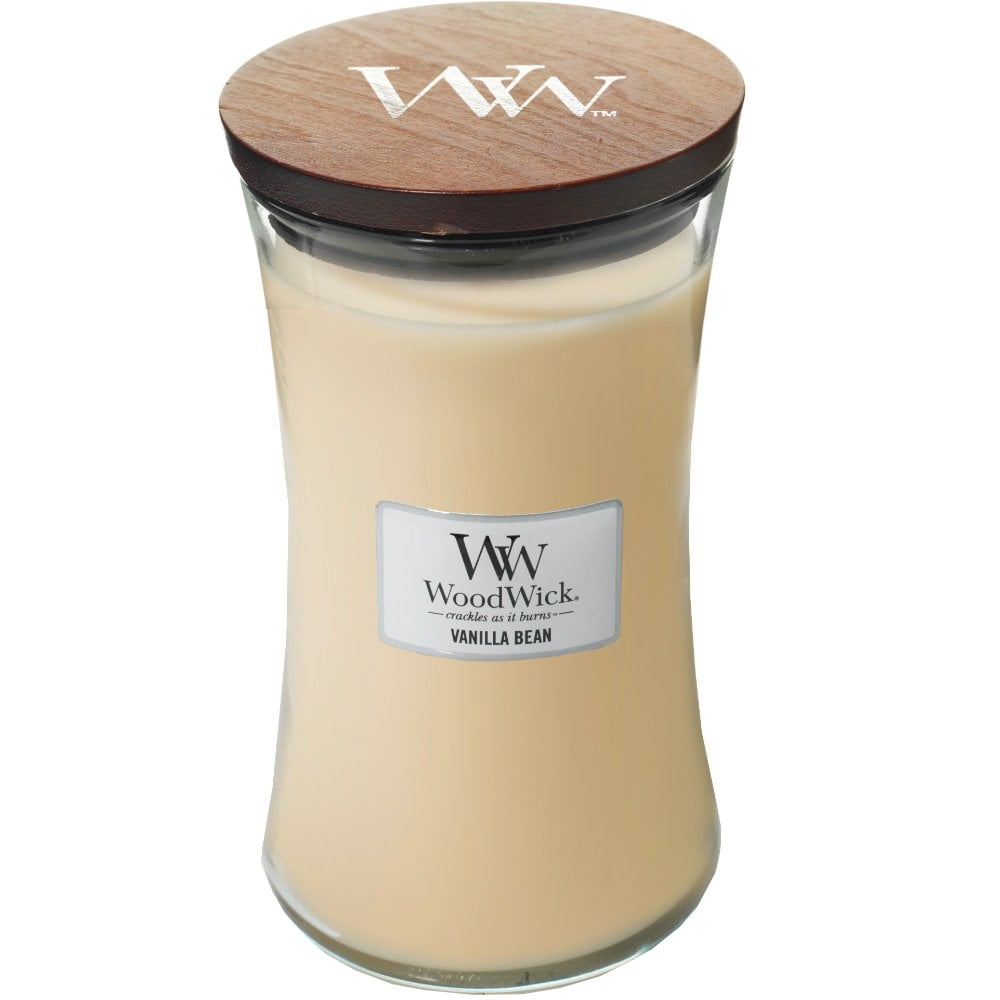 Vanilla Bean Large Jar Woodwick - lovearomameadowhall