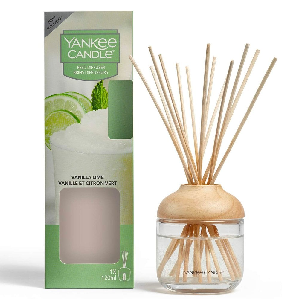 Yankee Candle Vanilla Lime Reed Diffuser - lovearomameadowhall