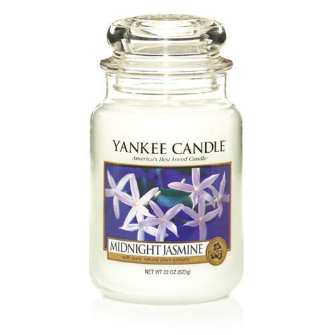 Yankee Candle Large Jar Midnight Jasmine - lovearomameadowhall