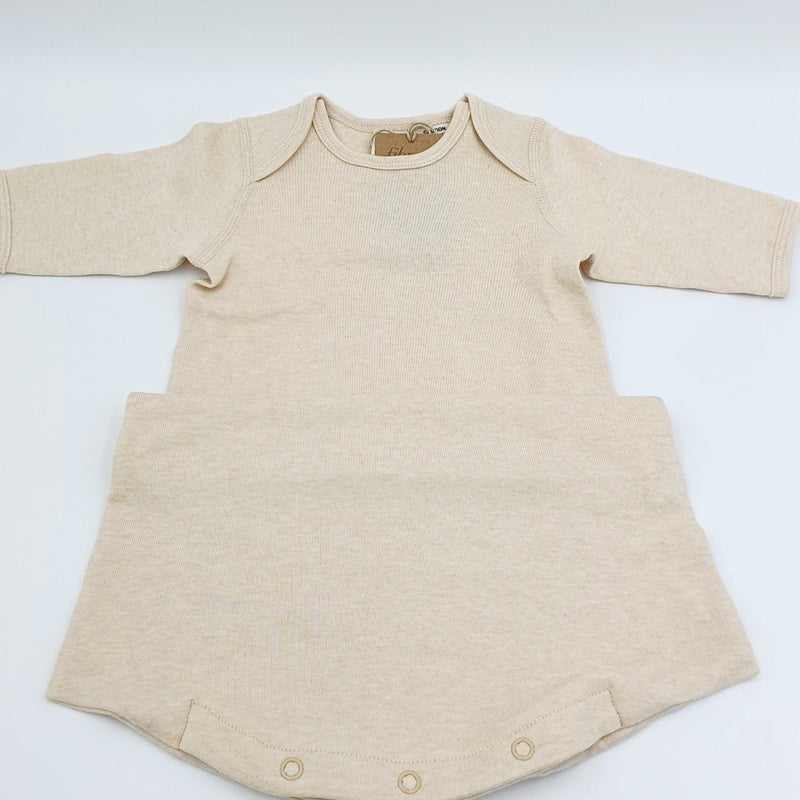 Organic Baby Blanket & Baby Gown - Sleeping Pouch | Fibre for Good  $69.90  A beautiful set in neutral tones that are naturally occurring in the cotton field. The gown is a must and lifesaver for changing babies nappies whilst they are sleeping, taking away the fuss of removing clothing, just unclip the bottom of the gown, and change the nappy then close the clips. The Blanket is made with the same Organic ONGC Cotton and is so soft that it is wonderful against the baby's soft and delicate skin.