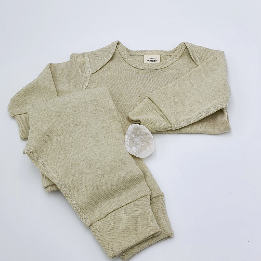 Natural Sage Long Sleeve Top | Organic
