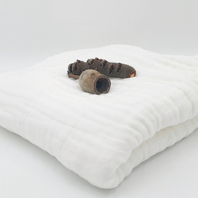 Organic Natural White Muslin Wrap - Fibre for Good