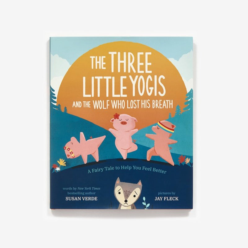 "The 3 little yogis and the wolf Once upon a time, there lived a wolf who lost his huff and his puff. It was a BIG, BAD problem! One morning, the wolf came upon a peaceful little yogi doing sun salutations. The wolf wanted to huff and puff and blooow her hut down into a big pile of straw. But instead, the yogi suggested, ""Let's meditate on that!"" Soon the wolf met a second yogi, and then a third. He may have lost his huff and puff—but with the help of three new yogi friends, can the wolf find his breath?"