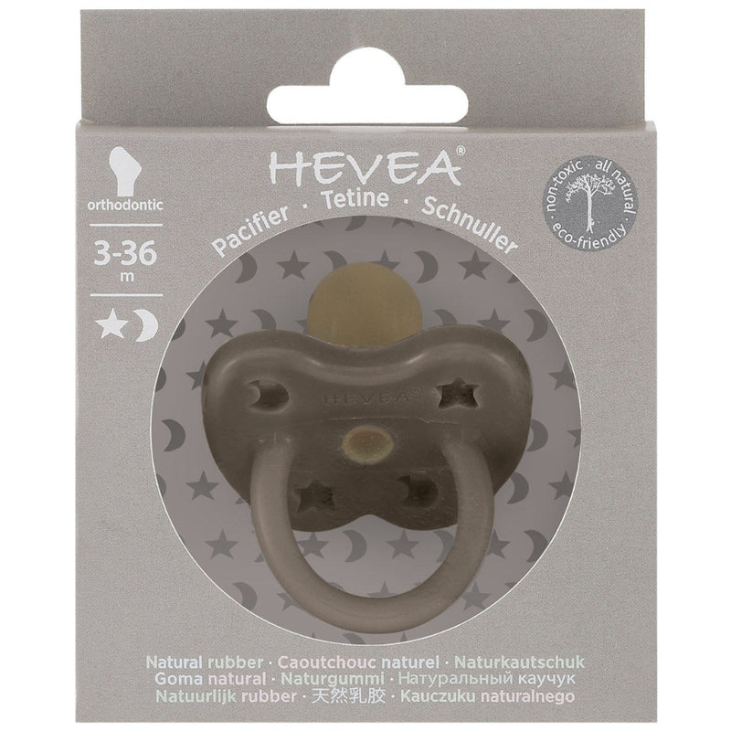 Shiitake Grey Natural Rubber Pacifier |  HEVEA
