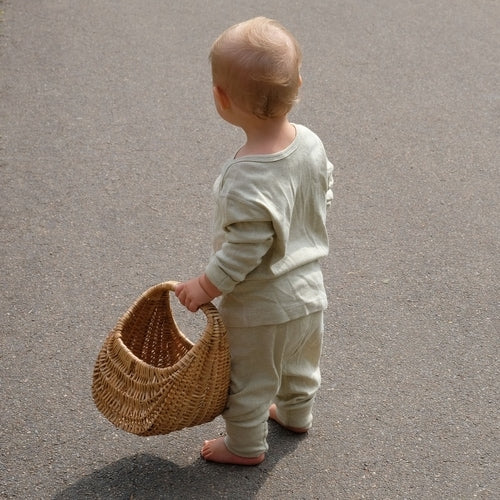 The super softness of organic natural colour cotton is due to it's hollow core, which is able to absorb moisture, breathe and protect baby's skin. Minimal processing of our cotton allows it to retain that softness plus natural hypoallergenic and anti-static properties, making it healthier to wear.
