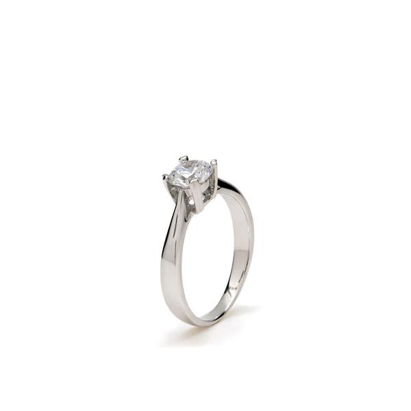 LineArgent - Ring Solitaire Silver - Luxedy - 1