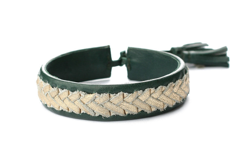 Exoal Armband Dark Green Gold - Luxedy