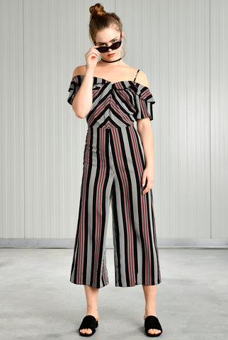 24colours - Jumpsuit Strepen