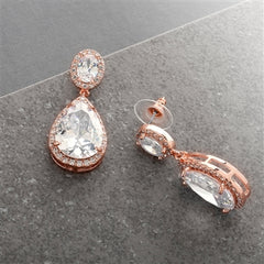 Luxedy - Oorbellen Rosegold Pear-Shaped