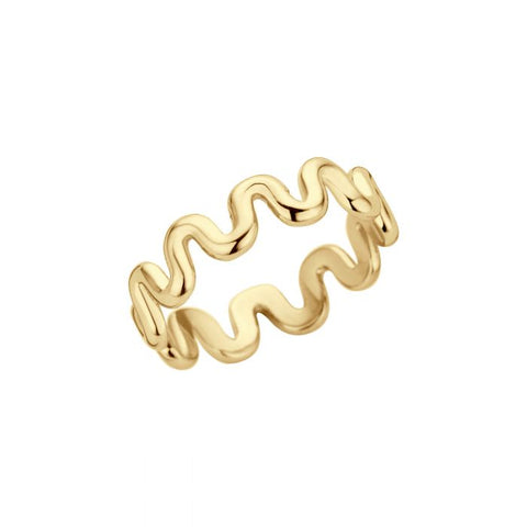 Melano - Ring Friends Crinkle Goud