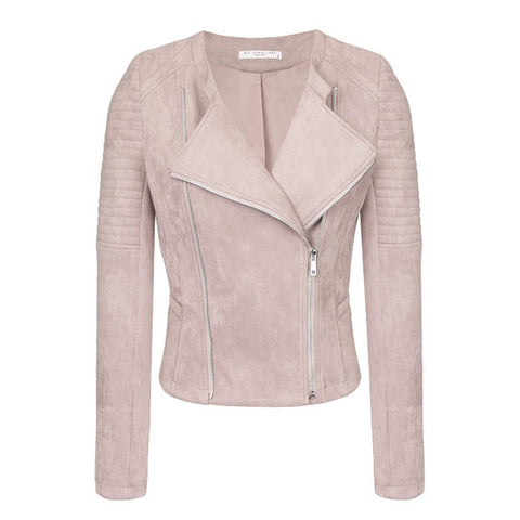 My Jewellery - Suedine Biker Jacket Lila