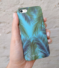 Bay & Bloom iPhone cover - Blue Leaves (iPhone 5 & 6) - Luxedy - 2