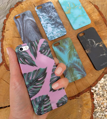 Bay & Bloom iPhone cover - Pink Leaves (iPhone 5 & 6) - Luxedy - 3