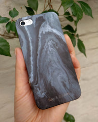Bay & Bloom iPhone cover - Grey Stone (iPhone 5 & 6) - Luxedy - 2