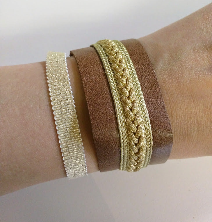 Yz'Bel Armband - Leather Brown - Luxedy