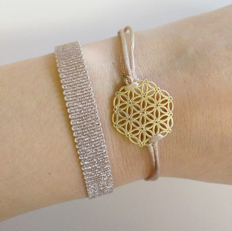 Yz'Bel Armband - Bright Taupe - Luxedy - 2
