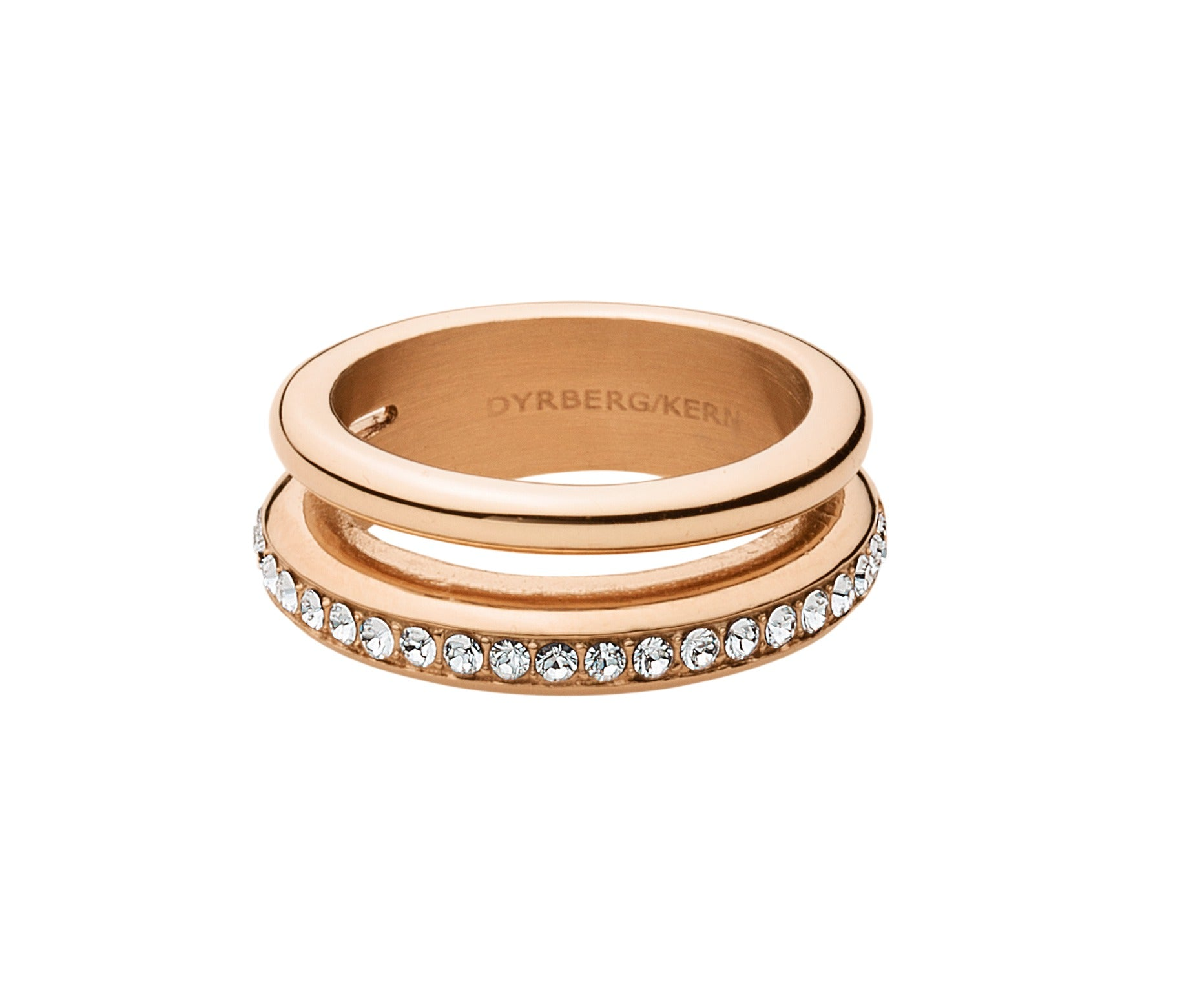 Dyrberg/Kern Ring - Tiva Rose Gold Crystal - Luxedy - 1