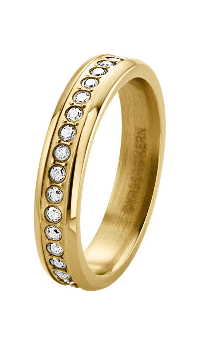 Dyrberg/Kern Ring ICON - Esquire Gold Crystal - Luxedy - 1