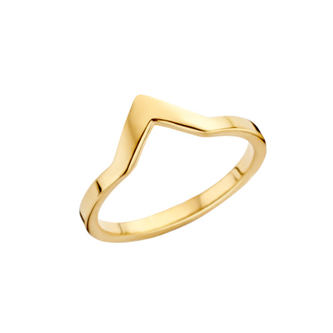 Melano - Ring Friends Pointed Goud - Luxedy