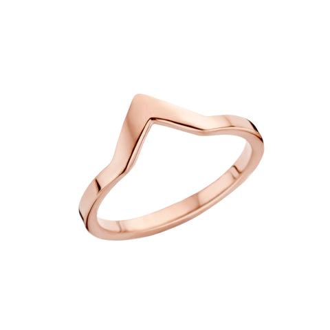 Melano - Ring Friends Pointed Rosé Goud - Luxedy