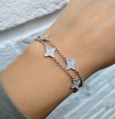 LineArgent - Armband Double Stars - Luxedy - 3