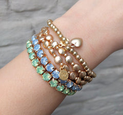 Miracles by Annelien Coorevits - Armband Big Swarovski Mint - Luxedy - 2