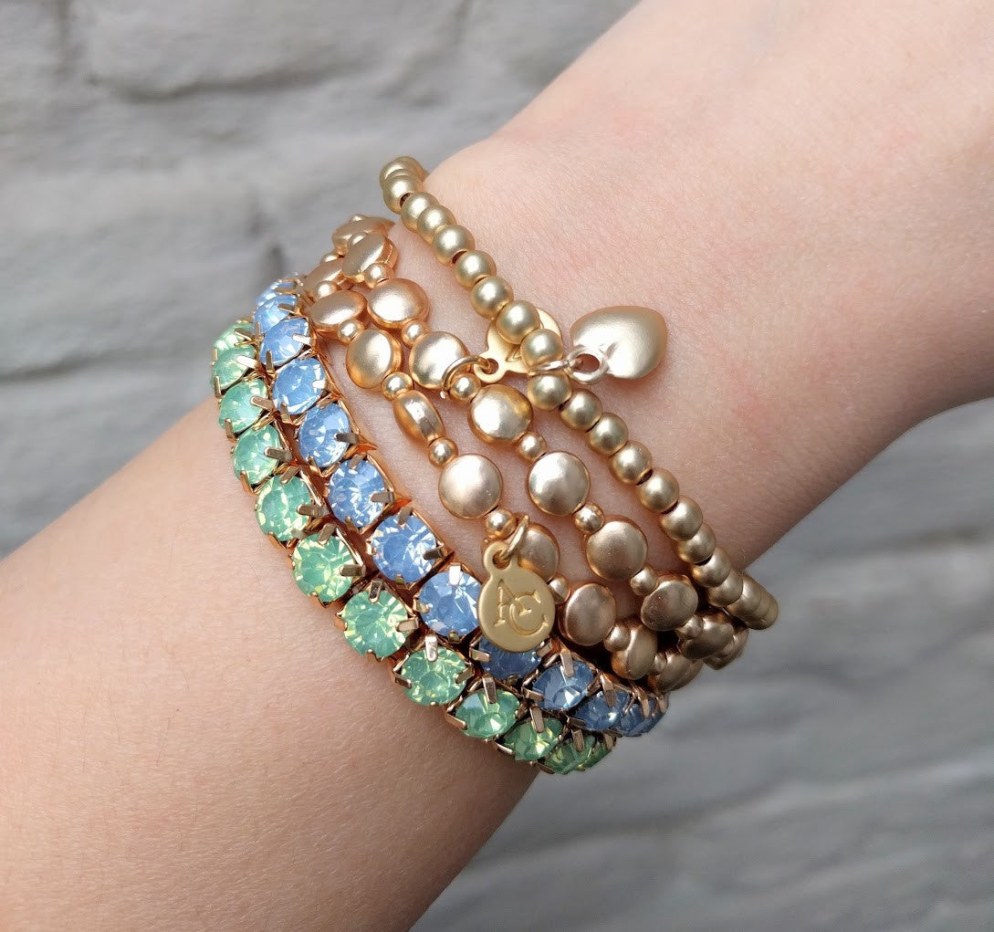 Miracles by Annelien Coorevits - Armband Big Swarovski Blue - Luxedy - 2