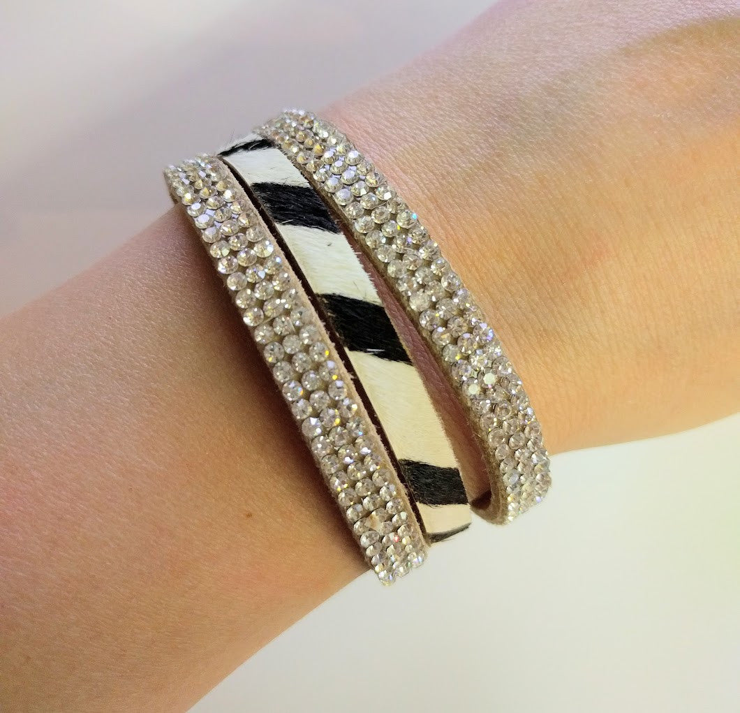 "Miracles by Annelien Coorevits ""Temptation collection"" - Armband Chiara Zebra White Stones - Luxedy - 2"