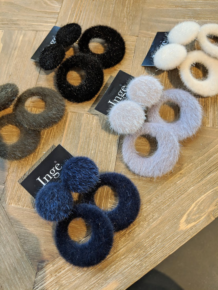 Inge Accessori - Fluffy Navy Blue - Luxedy
