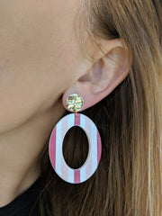 Like Jewellery - Oorbellen Ziva Stripes Pink