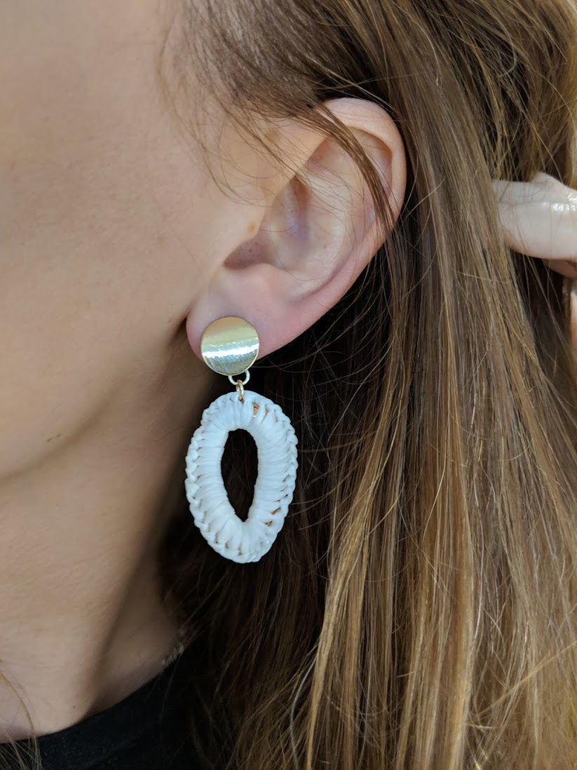 Like Jewellery - Oorbellen Zaylee White