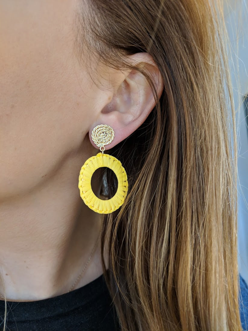 Like Jewellery - Oorbellen Zayba Lemon Yellow