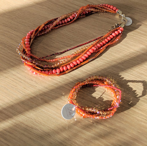 Like Jewellery - Ketting Zavaro Red