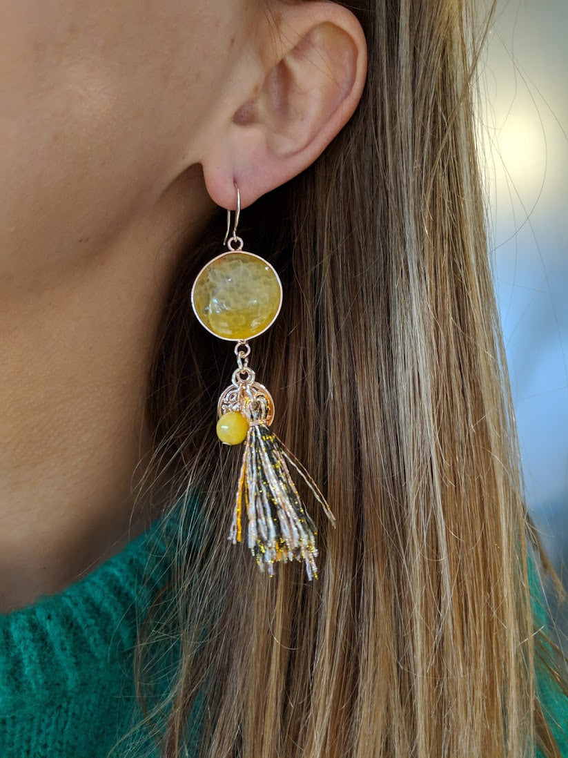 Miracles by Annelien Coorevits - Oorbellen Tiffany Yellow