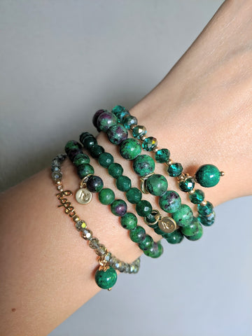 Miracles by Annelien Coorevits - Armband Jolien Green Medium Stones