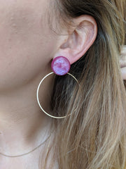 Miracles by Annelien Coorevits - Oorbellen Lotte Fuchsia