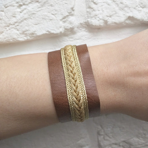 Yz'Bel Armband - Leather Brown - Luxedy - 1
