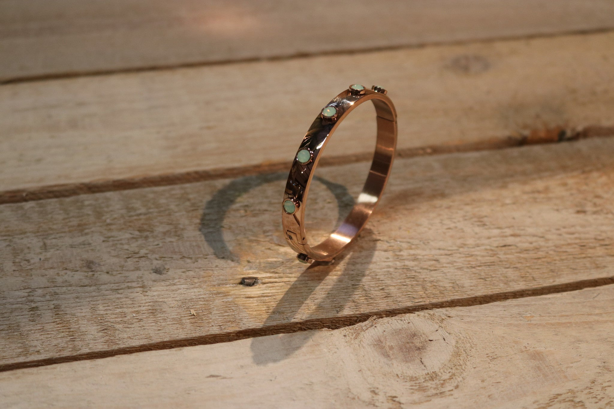 Miracles by Annelien Coorevits - Armband Lynn Rosegold Green Stones - Luxedy