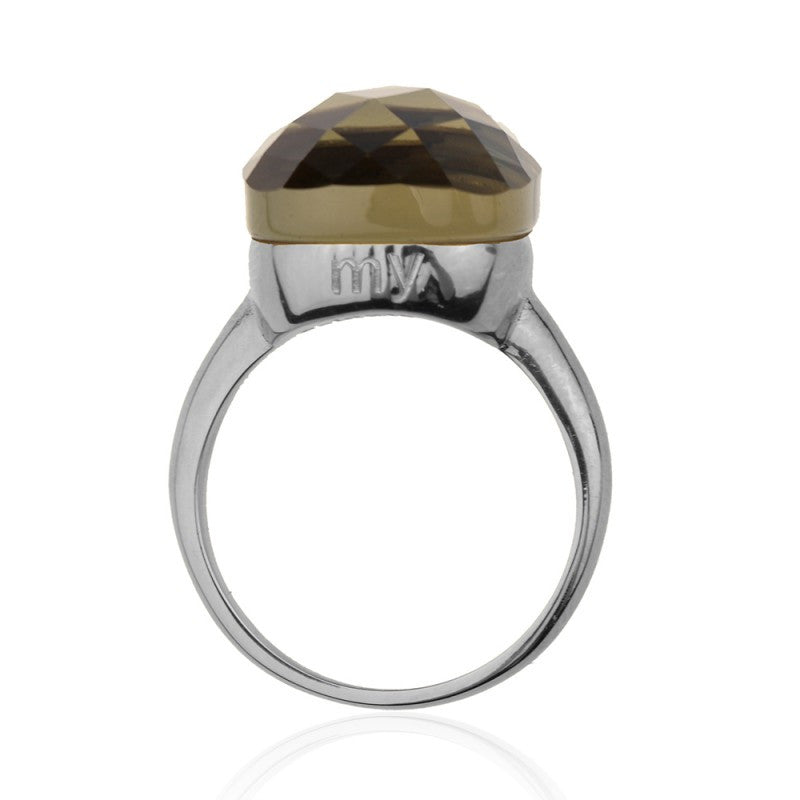 My Jewellery - Zilveren ring Square Gem Taupe - Luxedy - 4