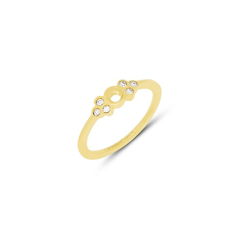 Melano - Ring Thera Crystal Goud