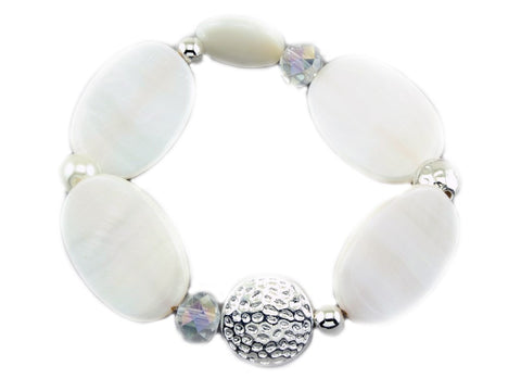 Like Jewellery - Armband Zefea White