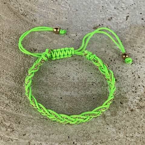 Miracles by Annelien Coorevits - Armband Lore Fluo Groen