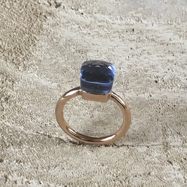 Miracles by Annelien Coorevits - Ring Forli Rosegold Light Blue - Luxedy