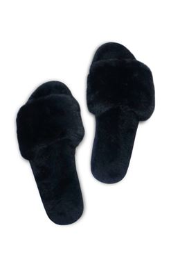 Miracles by Annelien Coorevits - Slippers Fur Black (dames en kinderen) - Luxedy